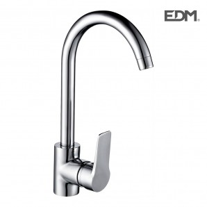 Taps, washbasin and bidet - Single-handle sink high spout edm