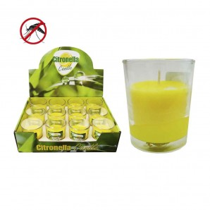 Candle citronella 50 g glass glass euro/uni
