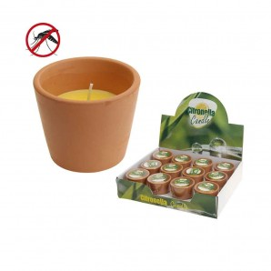 Repeller mosquito (candles and torches) - Candle citronella terracotta euro/uni