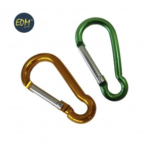 Firefighter carabiners - Mosqueton aluminio 60mmx ø6mm colores surtidos