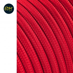 Cable cordon tubulaire 2x0,75mm c62 rojo 5mts