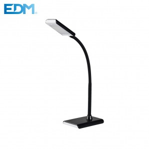 Flexo led 7w 400lumen color negro edm  4.000k