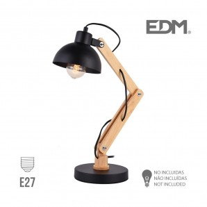 Lampes de Table - Flexo arquitecto  e27 negro edm