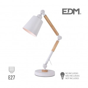 Lampes de Table - Flexo arquitecto  e27 blanco edm
