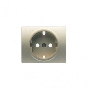 Tapa base enchufe seguridad dorado malta BJC 22724-DM