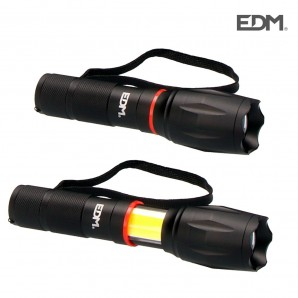 Flashlights - Linterna led xl extensible led frontal 200 lumens y lateral 120 lumens edm