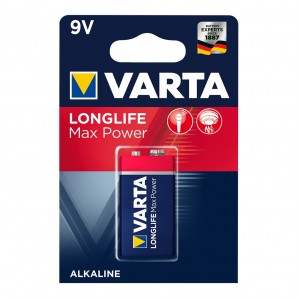 Pila varta long life max power 9v pack 1 uni