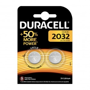 Pack 2 pilas boton cr2032 duracell