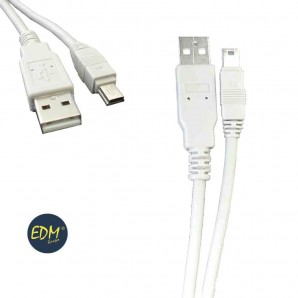 Cable usb tipo a macho a mini usb edm 1,8m