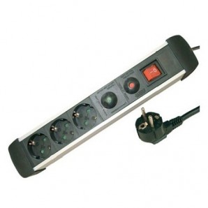 Base multiple 3 outlets protection surge + int 1,5 m GSC 0801084