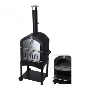 Barbecue charcoal with stone oven
