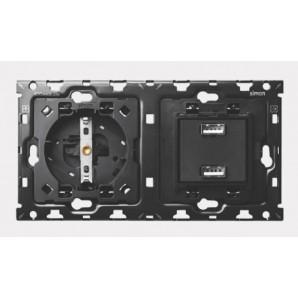 Kit 2 elementos base + cargador 2USB SIMON 10010205-039