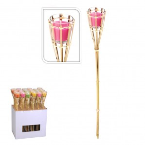 Repeller mosquito (candles and torches) - Torch garden 76cm with candle citronella 75x7,5 euro/u