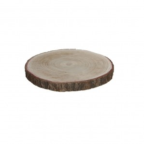 Base decorativa tronco madera altura 3cm dia30cm