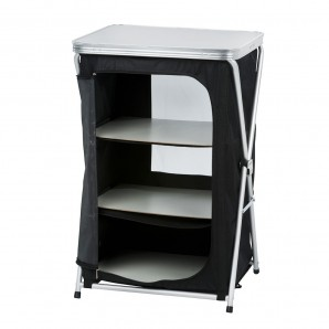 Table for camping with shelves 56x48x86cm