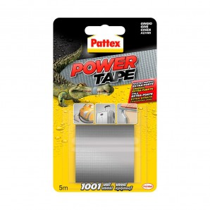 Adhesives and silicone - Pattex power tape 50x5m gris cinta americana