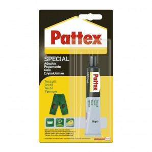 Adhesives and silicone - Pattex especial textil 20gr