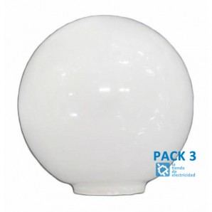 PACK 3 Tulipa crystal ball opal 14 cm mouth 5 LB 529551