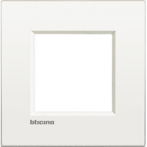 Bticino - Placa Livinglight AIR Blanco 2 módulos LNE4802BN
