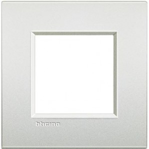 Placa Livinglight AIR Blanco perla 2 módulos LNE4802PR