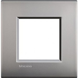 Placa Livinglight AIR Níquel satinado 2 módulos LNE4802NK