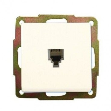 Recessed base with white GSC telephone socket