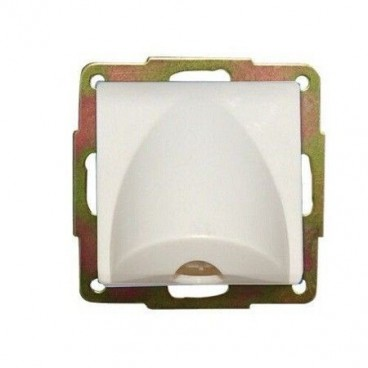 GSC white recessed cable outlet cover