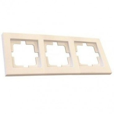 Frame for 3 elements white recessed GSC
